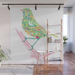 Birds sitting on branch Wall Mural