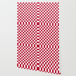 Red and White Check Wallpaper