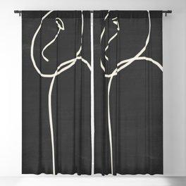 Minimal Abstract Art 38 Blackout Curtain
