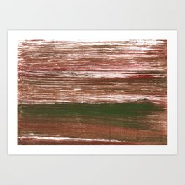Van Dyke Brown abstract watercolor Art Print