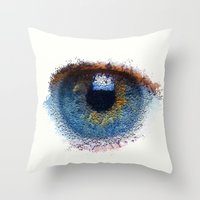 iris Throw Pillows featuring Iris by Paul Kimble