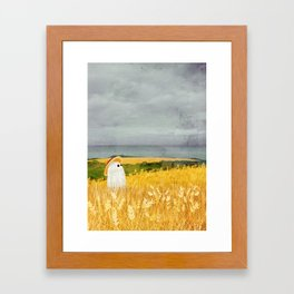 There's a ghost in the wheat field again... Framed Art Print