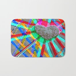 Multi Heart Rays 1 Bath Mat