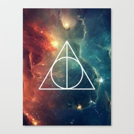 Deathly Hallows Nebula HP Canvas Print