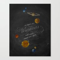carl sagan Canvas Prints featuring Wanderers - Carl Sagan by Casey Ligon