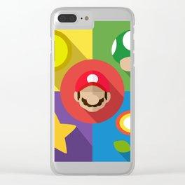 Super Mario flat Clear iPhone Case