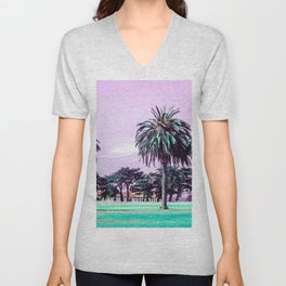Three palm trees. Unisex V-Neck