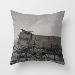 Left Behind - An Old Wagon Throw Pillow