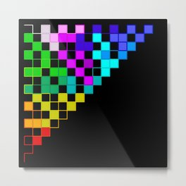 squares in a triangle Metal Print