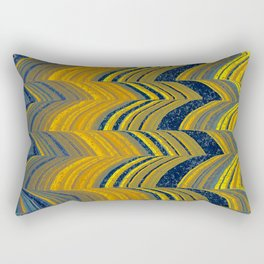 Blue and yellow abstract Rectangular Pillow