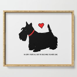 Scottish Terrier Dog-I'm Sorry (red heart) Serving Tray