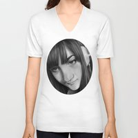 gamer V-neck T-shirts featuring Gamer by Anais.Lalovi