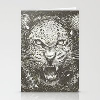leopard Stationery Cards featuring LEOPARD by Stefania Grippaldi