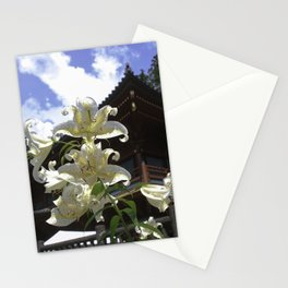 Lilies at the Temple Stationery Cards