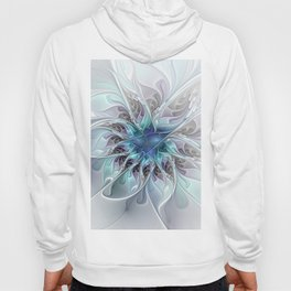Flourish Abstract, Fantasy Flower Fractal Art Hoody