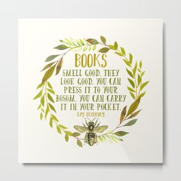 BEE About Books Metal Print