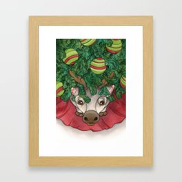 Baby Reindeer Framed Art Print