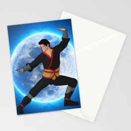 Martial Artist on the Moon Stationery Cards