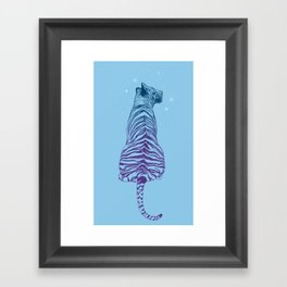 Tiger + Stars Framed Art Print