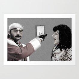 Le Pere Noel est une Ordure Art Print