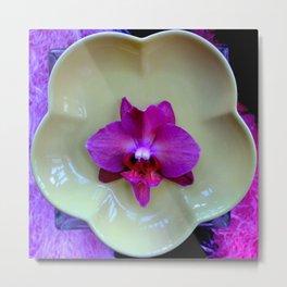 Mutant Ninja Moth Orchid Metal Print