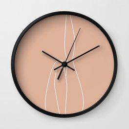 female legs figure abstract minimal modern one line art sketch Wall Clock