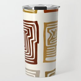 African Ceremonial Pattern Travel Mug