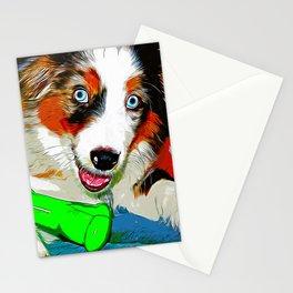 australian shepherd aussie dog puppy vector art Stationery Cards