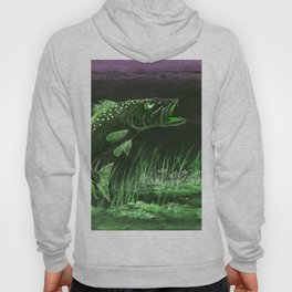 Trout Attack In Green Hoody