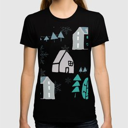 winter holiday houses T-shirt