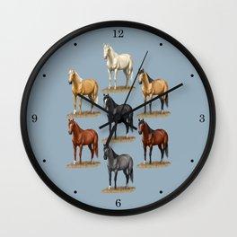 Horse Common Solid Coat Colors Chart Wall Clock
