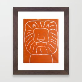 "No. 003 - Original Painting - 16"" x 20"" - The Lion (Modern Kids & Nursery Art) Framed Art Print"