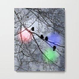Polar Crows Metal Print
