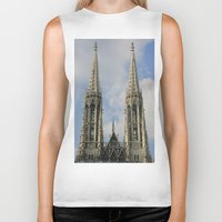 vienna Biker Tanks featuring Vienna by Kim Ramage