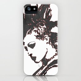 punk rocker girl iPhone Case