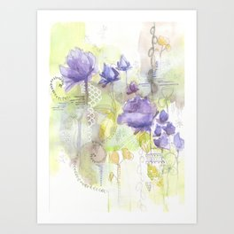 Color me Lavender Art Print