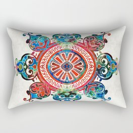Colorful Pattern Art - Color Fusion Design 3 By Sharon Cummings Rectangular Pillow