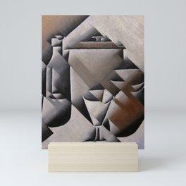 "Juan Gris ""Jar, Bottle and Glass"" Mini Art Print"