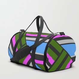 Striped triangles 5 Duffle Bag