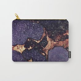 PURPLE & GOLD GEMSTONE Carry-All Pouch