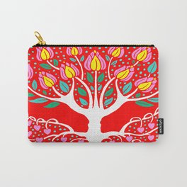 Love Grows Forever - Tomato Red Carry-All Pouch