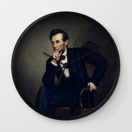 President Abraham Lincoln Painting Wall Clock