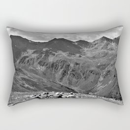 zwölferkopf hiking break view alps serfaus fiss ladis tyrol austria europe black white Rectangular Pillow