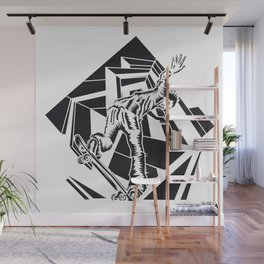 ONE INK SKATE Wall Mural