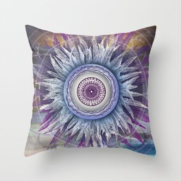 Crown Chakra (II) Throw Pillow