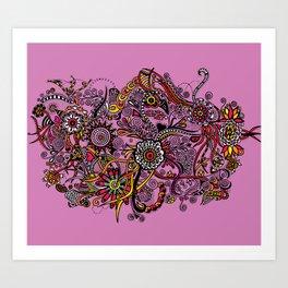 Flores Rosas Art Print