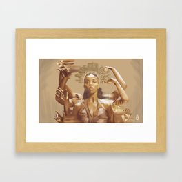 FKA Twigs - Queen of the Damned Framed Art Print