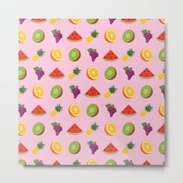 K-Pop Pattern: Red Flavor Metal Print