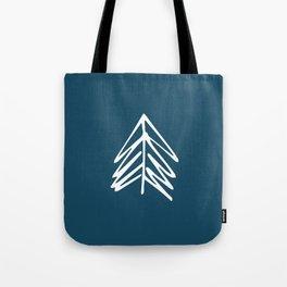 Pacific Northwest Evergreen   In Indigo Tote Bag