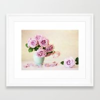 girly Framed Art Prints featuring Girly by Colleen Farrell